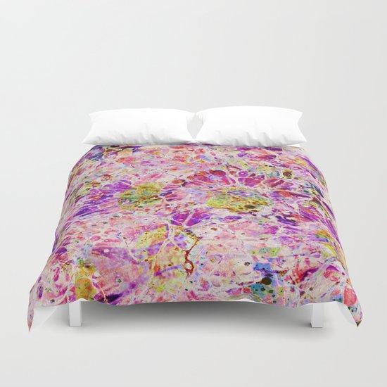 floral mosaic Duvet Cover