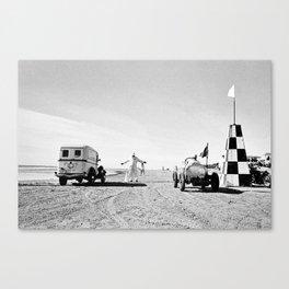 The Race of Gentlemen bw 11 Canvas Print