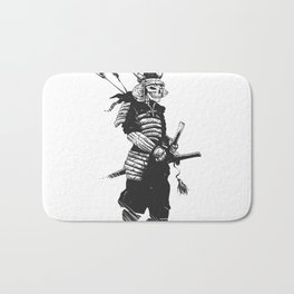 Samurai skull , grim reaper illustration , zombie warrior Bath Mat