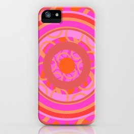 Mandala geometria en movimiento Glojag iPhone Case