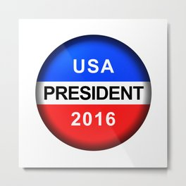 Vote Button President Metal Print