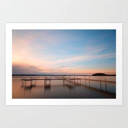 Saratoga Lake Sunset Art Print