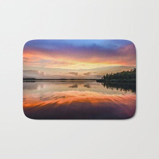 Sunset Symmetry Bath Mat