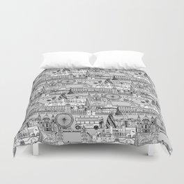London toile black white Duvet Cover