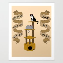 Meow We Here Art Print