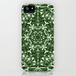 Green Mandala iPhone Case