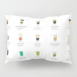Cocktail Chart - Shots and Shooters Pillow Sham