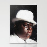 biggie smalls Stationery Cards featuring Biggie Smalls by André Joseph Martin