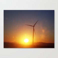 Windmill Sunset Canvas Print