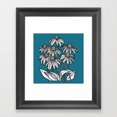 blue flowers square Framed Art Print