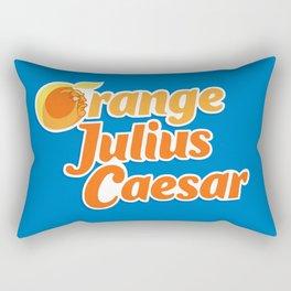 Orange Julius Caesar Rectangular Pillow