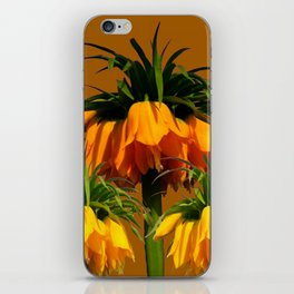 CARAMEL COLOR YELLOW CROWN IMPERIAL FLOWERS iPhone Skin