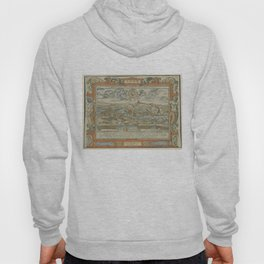 Vintage Pictorial Map of Lyon France (1555) Hoody