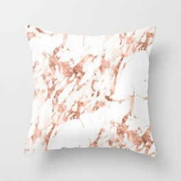 Rose Gold Marble - Perfect Pink Rose Gold Marble Throw Pillow