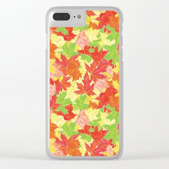 Autumn leaves #18 Clear iPhone Case