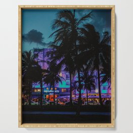 Miami By Night | Fine Art Travel Photography Serving Tray