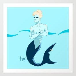 Late for Shark School Art Print