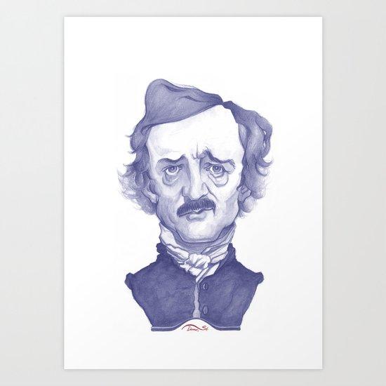 Edgar Allan Poe illustration Art Print