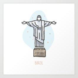 Brazil - Christ the Redeemer Art Print