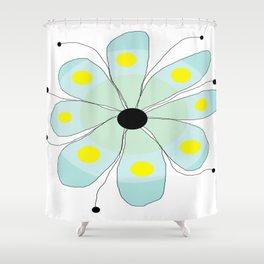 FLOWERY  SALLY / ORIGINAL DANISH DESIGN bykazandholly Shower Curtain