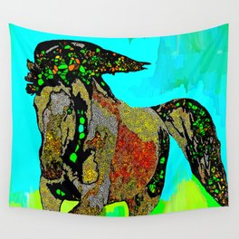 Horse Stained Glass Wall Tapestry