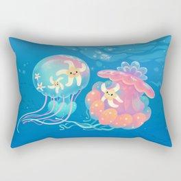 Jellyfish bus Rectangular Pillow