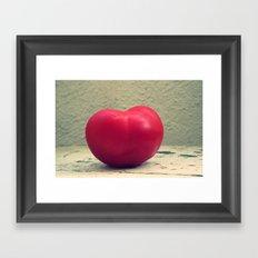 Tomato Red Framed Art Print