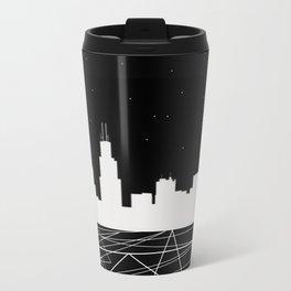 Chicago nightscape Travel Mug