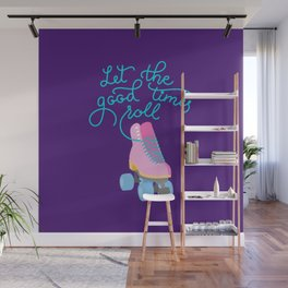 Let the Good Times Roll (Purple Background) Wall Mural