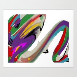 Shark in Holi Art Print