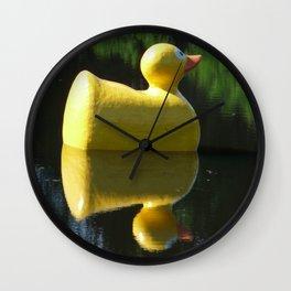 I Love You Rubber Duckey Wall Clock