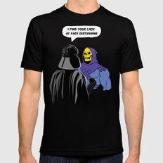 Vader Skeletor I Find your lack of face disturbing  LARGE Mens Fitted Tee Black