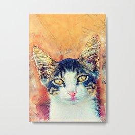 Cat Jacky art #cat #kitty Metal Print