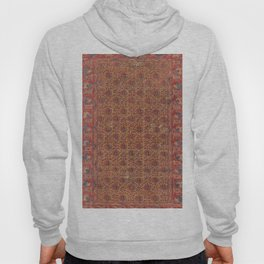 Mustard Floral Vine I // 17th Century Distressed Red Yellow Blue Colorful Ornate Accent Rug Pattern Hoody