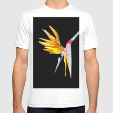 Bird of Paradise Flower Mens Fitted Tee White MEDIUM