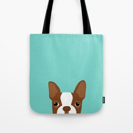 Red Boston Terrier Tote Bag
