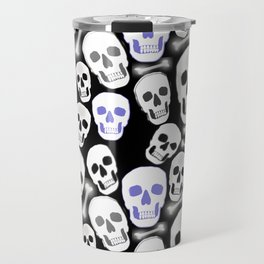 Small Tiled Skull Pattern Travel Mug