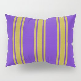 Yellow lines on a purple background. Pillow Sham