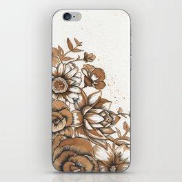 Coffee Art- Flowers iPhone Skin