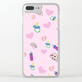 Baby pattern design Clear iPhone Case