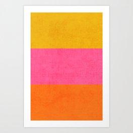 three stripes - summer brights Art Print