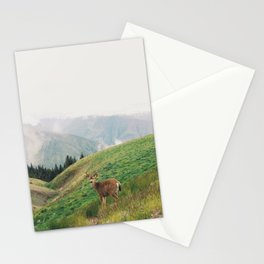 Deer at Hurricane Ridge Stationery Cards