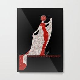 "Art Deco Fashion Design ""Alphabet Cloak"" Metal Print"