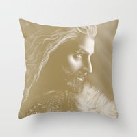 thorin Throw Pillows featuring Thorin by Christine Tromop