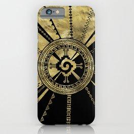 Hunab Ku Mayan symbol Black & Gold iPhone Case