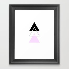 minimal pastel triangles design Framed Art Print