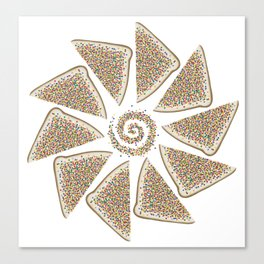 Fairy bread spiral Canvas Print