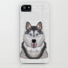 Happy Husky iPhone Case
