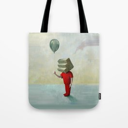 Step-headed Red Child Tote Bag