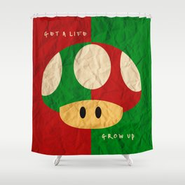 Gamer life lessons Shower Curtain